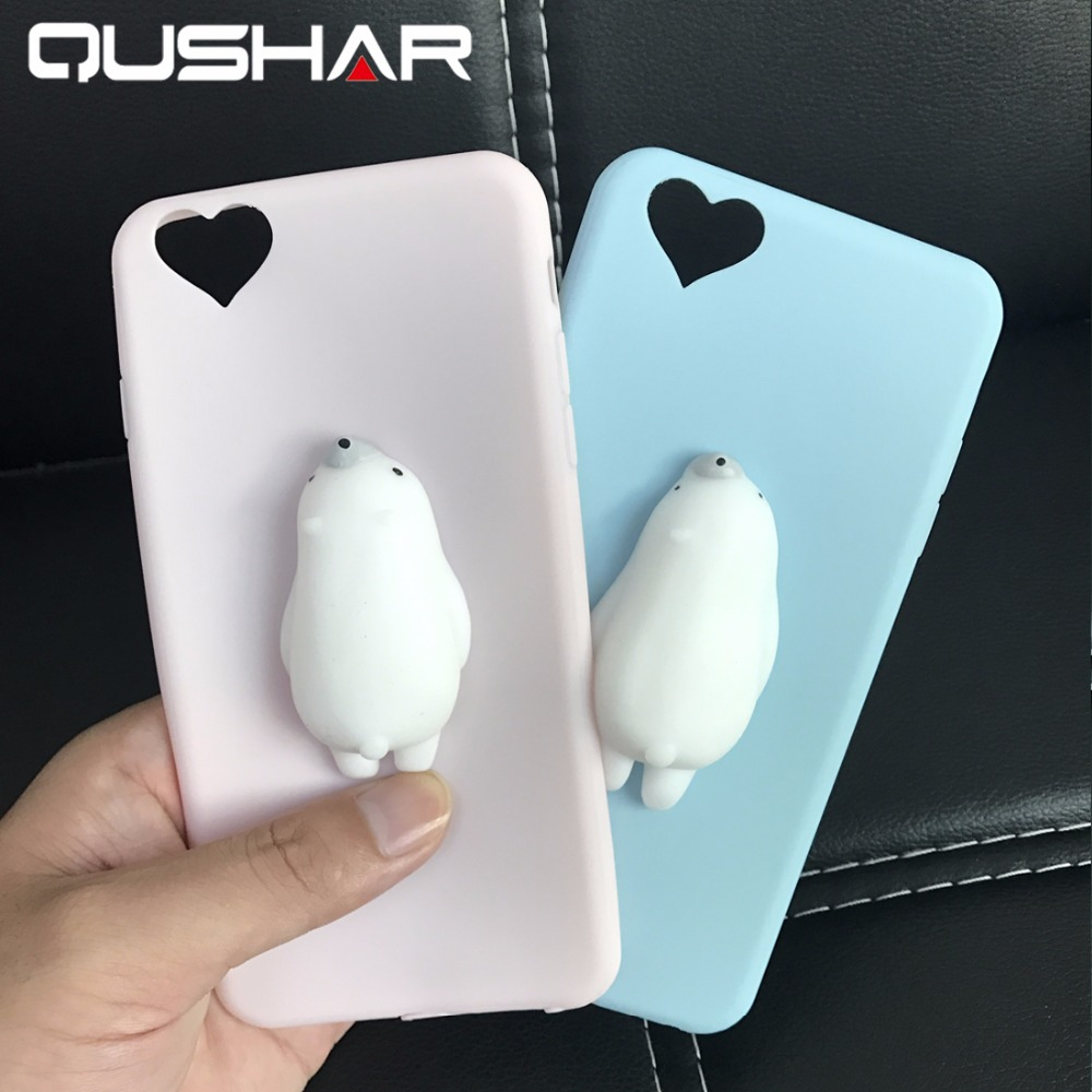 Squishy Cases Iphone 7 : QuShar Cute 3D Squishy Phone Case for iphone 6 s 6s 7 plus Soft Phone Case Silicone Kneading ...