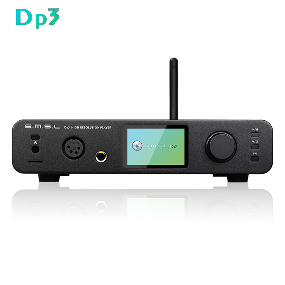цена SMSL DP3 USB Hi-Res Digital Player ES9018Q2C DAC Chip 32Bit/384Khz DSD256 two-way Bluetooth 4.0/WIFI/DLAN input Headphone output