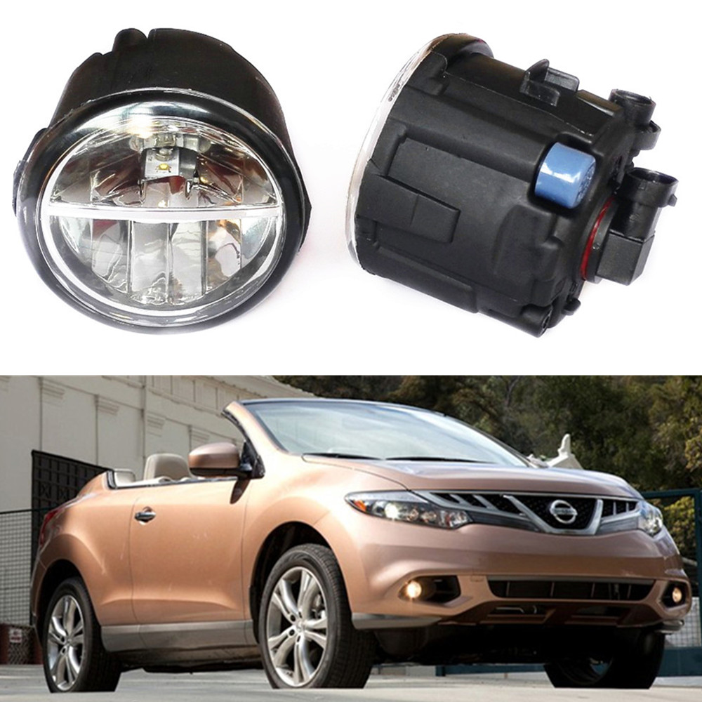 For NISSAN Murano Z51 Closed Off-Road Vehicle  2007-2014 Car styling LED fog lights front bumper 10W Fog Lamps 1set car styling led fog lights for mitsubishi pajero iv v8 w v9 w closed off road vehicle 2007 2012 fog lamps 10w drl 1set