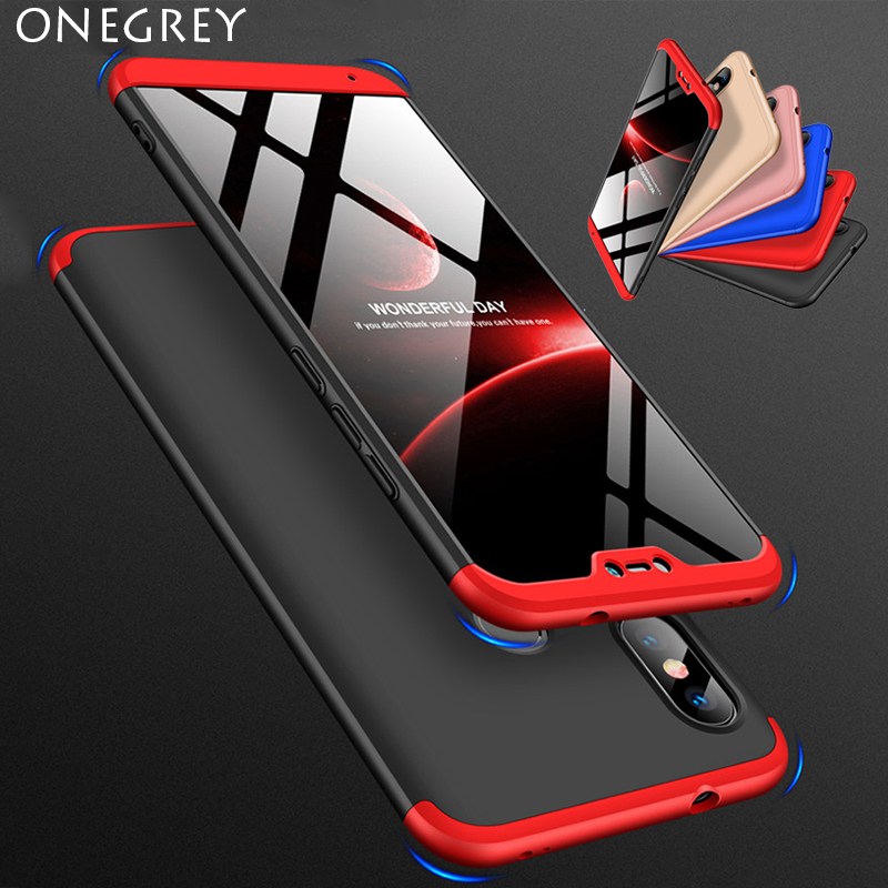 360 Degree Hard Case for <font><b>Xiaomi</b></font> Mi 8 Se 6 Mix Max <font><b>2</b></font> 2s A2 Lite A1 6x 5x <font><b>Redmi</b></font> S2 Y2 Y1 6 <font><b>6a</b></font> Note 5 Pro Plus 5a Prime Back Cover image