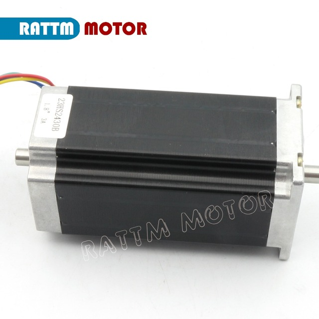 From EU/free VAT 3 pcs NEMA23 stepper motor 57 type 425 Oz-in 280N.cm Dual shaft stepping motor/3A for CNC Router Engraving Mill
