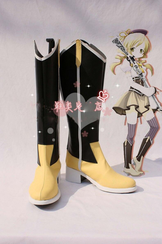 Anime Puella Magi Madoka Magic Tomoe Mami Boots Cosplay costume shoes Custom Made Halloween Free Shipping