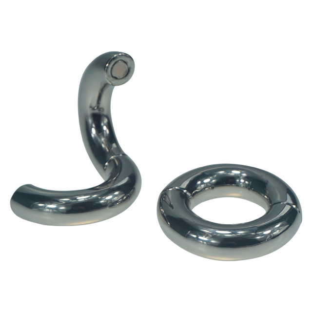 Dia 30mm 40mm Heavy Duty Magnetic Stainless steel Ball Scrotum Stretchers metal Cock Ring For Big Men Delay vejacula Sex Toys