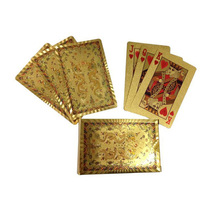 One Deck Gold Foil Playing Cards Waterproof Plastic Poker Dragon Style Good Gift for Entertainment Casino Cards