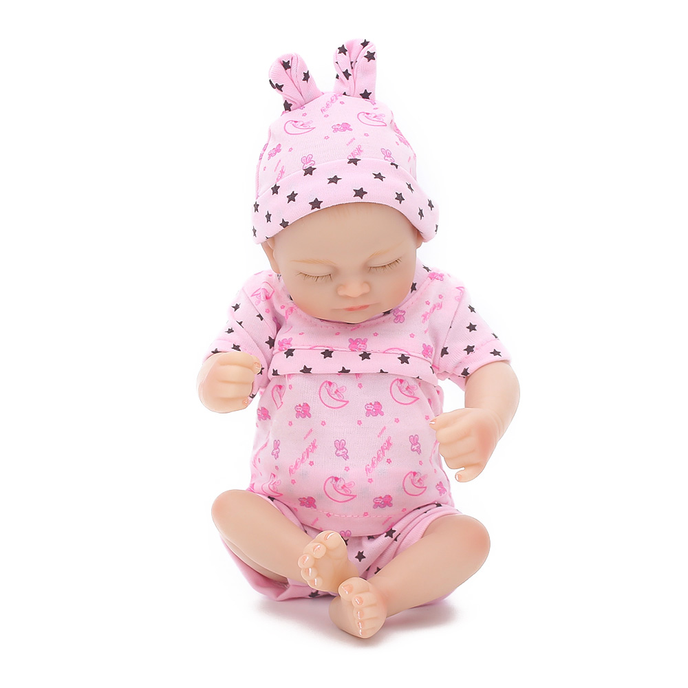Baby Dolls Vip Us 61 59 20 Off Cute Bebe Reborn Doll Full Body Silicon 26cm Silicone Reborn Baby Dolls Lifelike Newborn Baby Gift Juguetes Babies Toys In Dolls