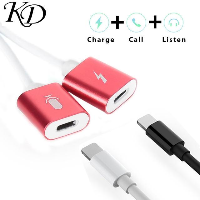 US $2 16 6% OFF|4 in 1 Earphone & Charger Adpater For Port Listen Music  Calling Converter Charging Port For iPhone X 8 7 Plus XS XR MAX-in Mobile