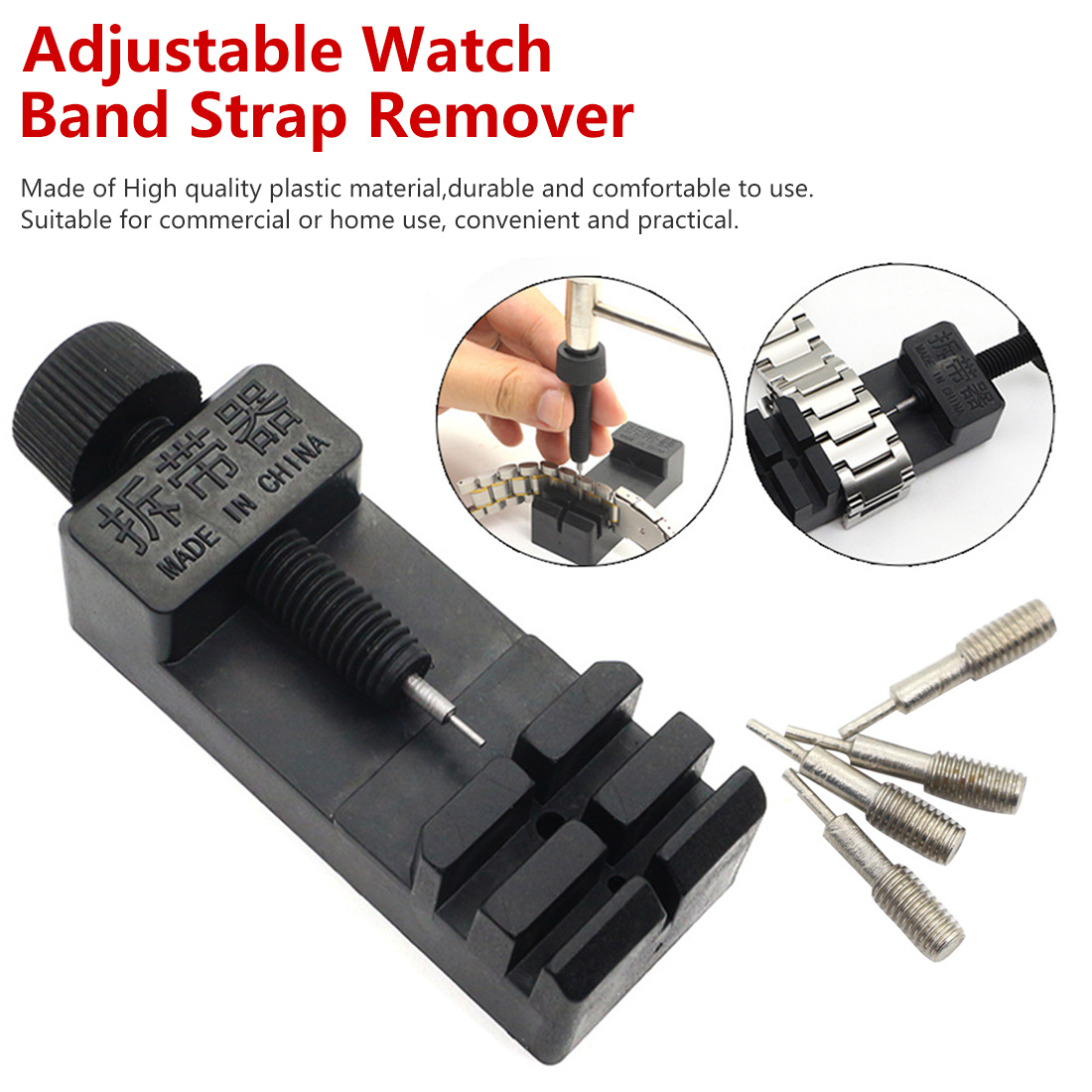For Men/Women Watch  Link Adjust Slit Strap Bracelet Chain Pin Remover Adjuster Repair Tool Kit Watch Band