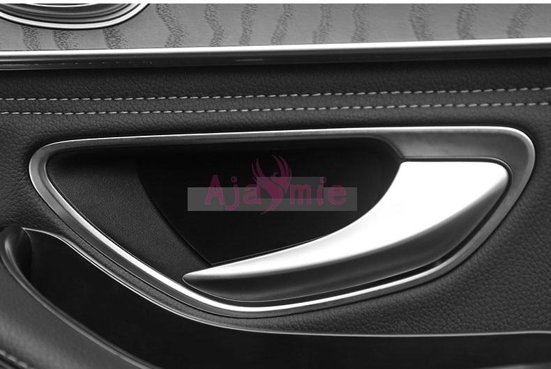 4pcs Chrome Door Handle Bowl Cover Trim For Mercedes Benz E Class W213 2016-2017