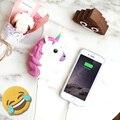Funny Emoji Smiley Unicórnio Diabo Excrementos Moda Banco de Potência Powerbank Bateria Externa Carregador Portátil Para O Telefone Móvel