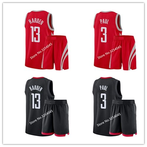 29e2b9211 ... discount 2019 new 13 james harden 3 chris paul basketball jersey shorts  suit set embroidery stitched
