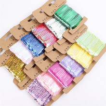 5 Yards Trim Fabric DIY Sewing Crafts Sequins Lace Elastic Ribbon Wedding Decoration