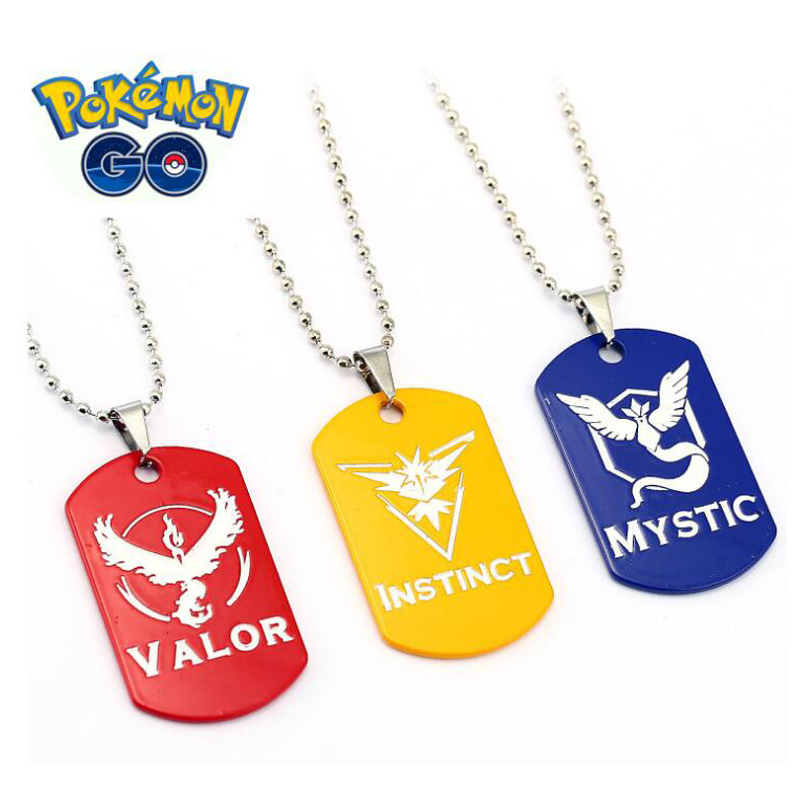 ORP Anime game theme products Pokemon Go nceklace Three camp logo hot new necklace pendant fine accessories wholesale