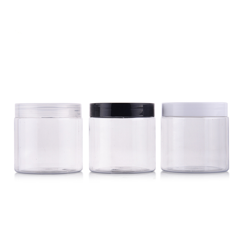 Image 3 - 10pcs Container Cosmetic Jar Pot Plastic Travel Bottle Cookie Storage Portable Clear Empty Mask Packing 100g 150g 200g 250g 350g-in Refillable Bottles from Beauty & Health