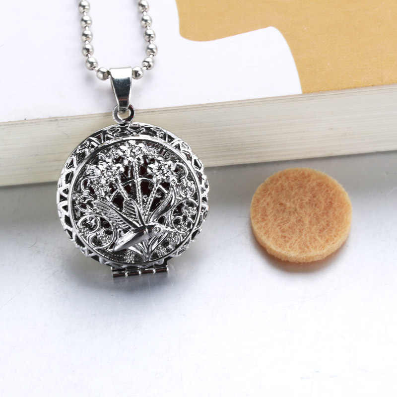 1pc 60cm popular Aromatherapy Perfume Essential Oils Aroma Diffuser Necklace Locket Necklace Hummingbird Necklace 040904