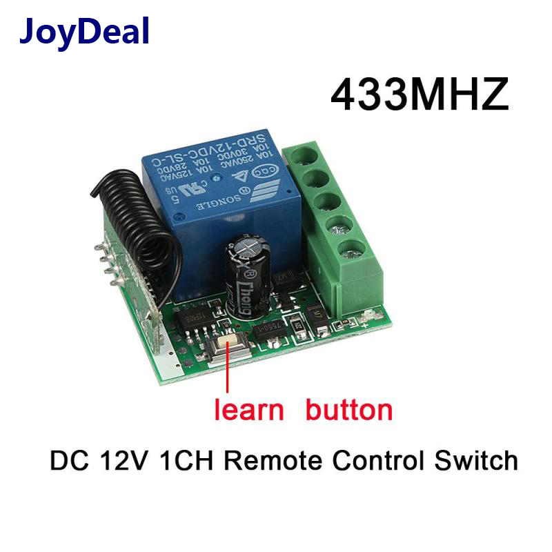 433 Mhz inalámbrico RF interruptor de Control remoto DC 12 V 1 CH Relay receptor y transmisor coche cerradura electrónica control de Acceso DIY