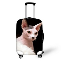 Customized Image Canadian Hairless Sphinx cat print Luggage Protection Cover Suitcase Case Accessorie Elasticity Travel Trolley
