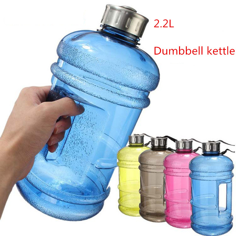 2 2L large capacity bottles of water in the outdoor sports of training camp workout gym