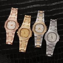 Bussiness zegarek kwarcowy słynny markowy diament zegarek ze stali nierdzewnej zegarek róża w kolorze różowego złota złoty zegar kolor projektant zegarek tanie tanio TOPGRILLZ QUARTZ Składane zapięcie z bezpieczeństwem STAINLESS STEEL 3Bar Luxury ru 16mm ROUND 10mm Brak Hardlex WA18120004