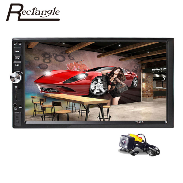 imágenes para 2 Din Coche Reproductor de Vídeo de 7 pulgadas de Pantalla Táctil de Coches Radio 2Din Audio Estéreo Reproductor MP5 USB FM Bluetooth + de Visión Trasera cámara
