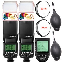 2X Godox TT685 TT685O 2.4G Wireless HSS 1/8000s i-TTL Camera Flash Speedlite + XPro-O TTL Trigger for Panasonic Lumix / Olympus 2x godox tt685 tt685n 2 4g wireless hss 1 8000s i ttl camera flash speedlite xpro n ttl trigger for nikon dslr camera