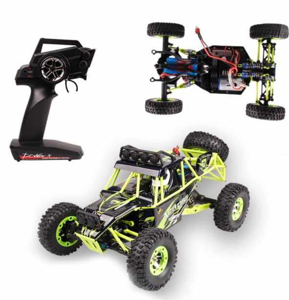 Wltoys 12428 RC Climbing Car Toys 1/12 Scale 2.4G 4WD Remote Control Car 50KM/H High speed RC Car Off-road vehicle Parts Gift