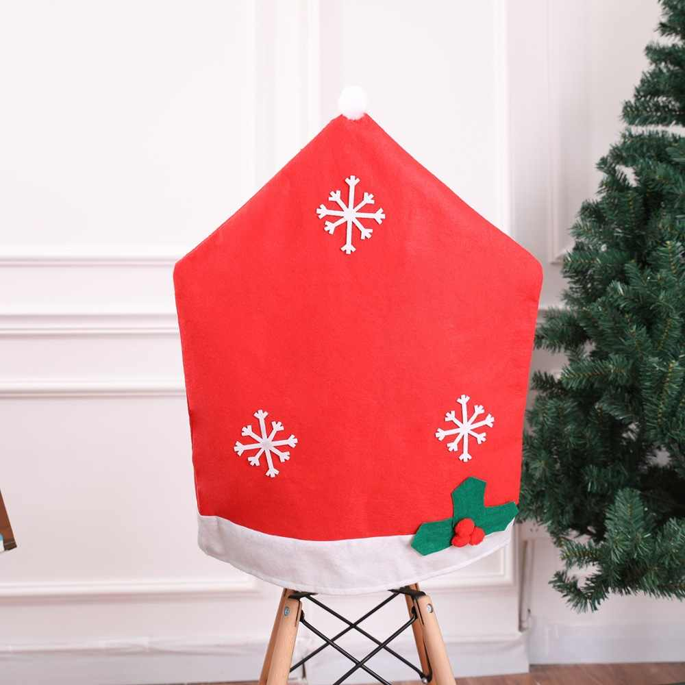 JaneYU 2019 Novos Enfeites De Natal, Não-tecido Floco De Neve Conjuntos de Cadeira, Cadeiras 50*65 centímetros Floco De Neve, produtos de natal.