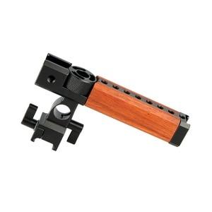 """Image 2 - NICEYRIG empuñadura superior de madera para cámara, mango de madera, mango superior, varilla de 15mm, abrazadera, Zapata fría, tornillo de 1/4 """"y 3/8"""""""