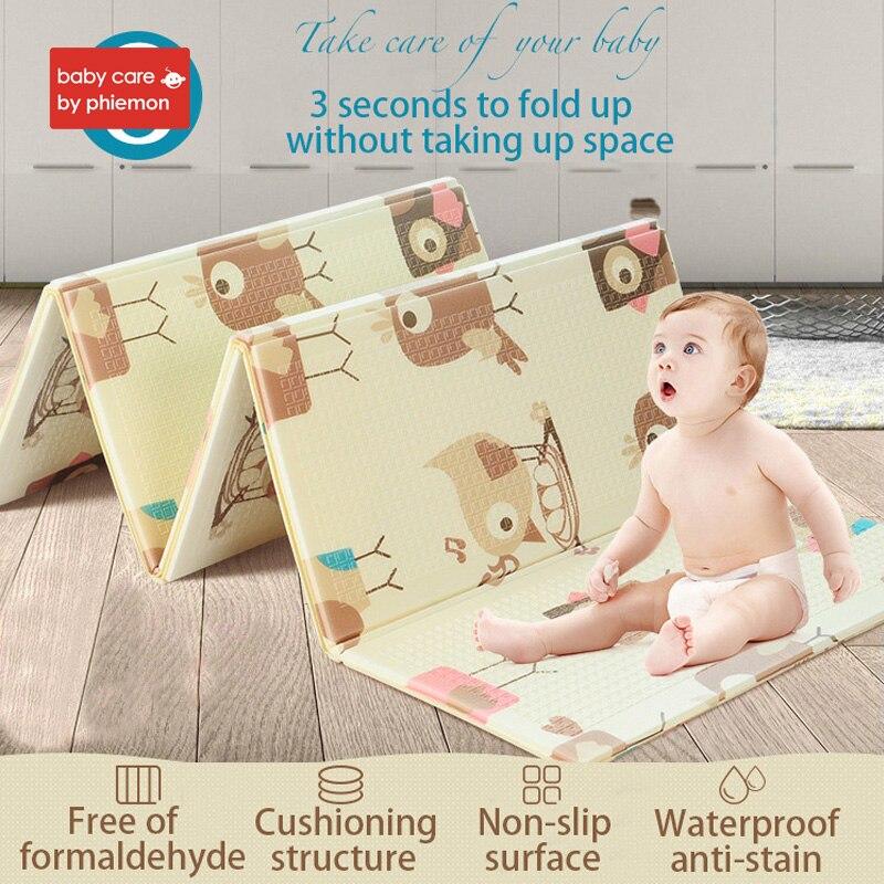 Babycare Portable pliable bébé escalade Pad jouer Double face épaissi tapis XPE environnement insipide salon jeu couverture