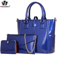 купить Fashion Ladies Handbags Sets Famous Brand Leather Shoulder Bag Large Women Composite Bags High Quality Pu Tote Bag SAC A Main дешево
