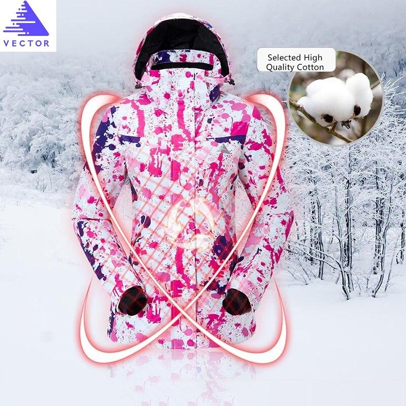VECTOR marque femmes veste de Ski coupe-vent imperméable à l'eau chaude vestes d'hiver Ski snowboard vêtements de plein air Sport manteau de neige