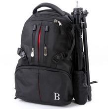 Alta calidad de múltiples funciones profesional de doble hombro bolsa de la cámara caso bolsa de viaje mochila para cámara canon nikon sony dslr