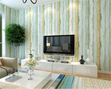 beibehang Mediterranean nonwoven blue wood grain 3d wallpaper clothing store restaurant colored striped wall paper retro behang beibehang imitation wood grain wood floor wallpaper chinese style retro wood texture bar restaurant clothing store wholesale res