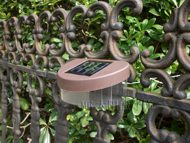 Brown shell Solar fence light Solar powered outdoor decorative lights 50pcs/lot Free shipping