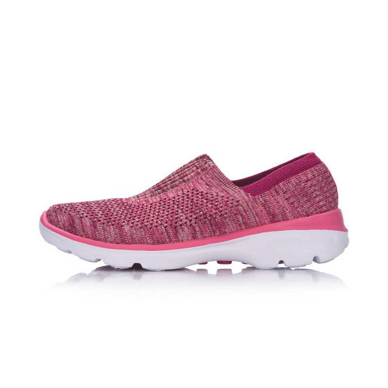 Li-ning נשים של קל הליכון אורח חיים נעלי טקסטיל לנשימה סניקרס אור כושר ספורט בטנת נעלי AGCM112 YXB048
