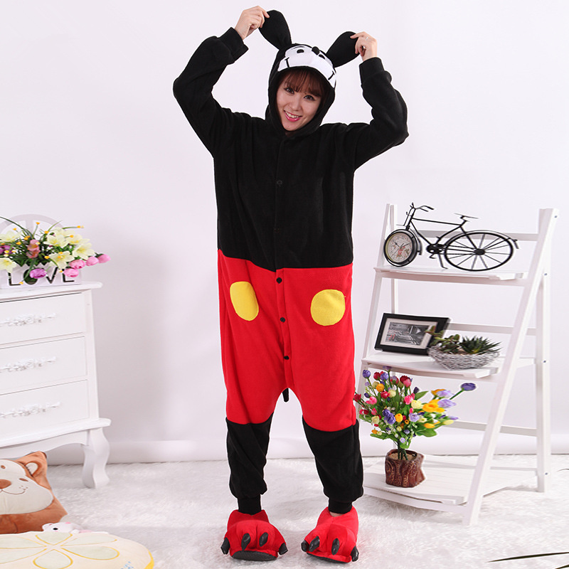 Mickey and Minnie  Onesie Anime Pajamas Anime Cosplay Costume unisex Adult Onesie Sleepwear mickey pajamas adults Dress