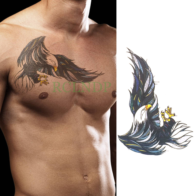 Waterproof Temporary Tattoo Sticker Eagle Wings Fake Tatto Flash
