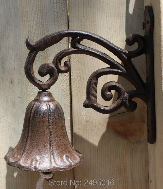 Country Rustic Leaf Door Bell Welcome Dinner Bell Cast