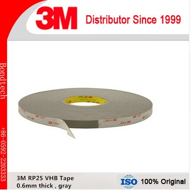 3M VHB acrylic tape RP25/ 3M VHB gray tape with 0.6mm thick, 1inX33M/roll ,1roll/Lot 3m vhb tape 4926 gray 45mil 1inx36yd pack of 1