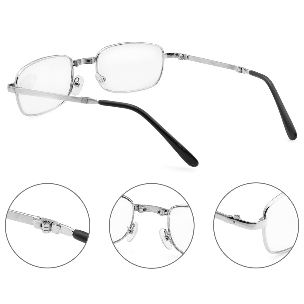 Unisex +1.0~4.0 Diopter Rimless Magnetic Eyeglasses Fashion Reading Glasses with Box Ultralight Vision Care Folding Eyeglasses 5