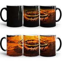Der Herr der Ringe becher kaffeetassen Wärmeempfindlichen kalt heiße farbwechsel zauberbecher tee tassen morph tassen transforming tasse