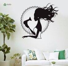 YOYOYU Vinyl Wall Decal Beauty Salon Hair Dryer Blow Hair Interior Art Papel De Parede Para Quarto Stickers FD363 цена и фото