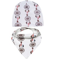 New Brand Baby Girl Hat Boys Cap Infant Hat Set 0 3Y Kids Caps Scarf Ring