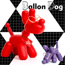 2018 Fashion Ballon Dog Six Style Ceramic Resin Crafts Sculpture Statues For Decoration Creative Gifts Modern Balloon Statue