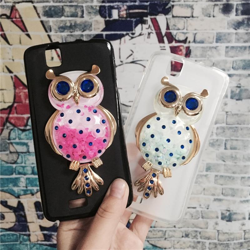 Glitter Quicksand Phone Case Covers for Fly IQ4503 ERA Life 6 Quad Original Soft TPU Cases Back Cover Funda Para Shell Coque
