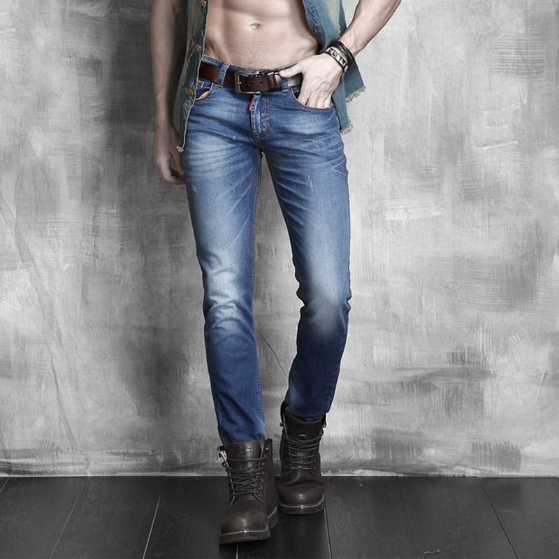 2015 Summer Style Blue Robin Jeans Men Fashion Skinny Jeans Denim Pants Slim Fit Mens Clothing