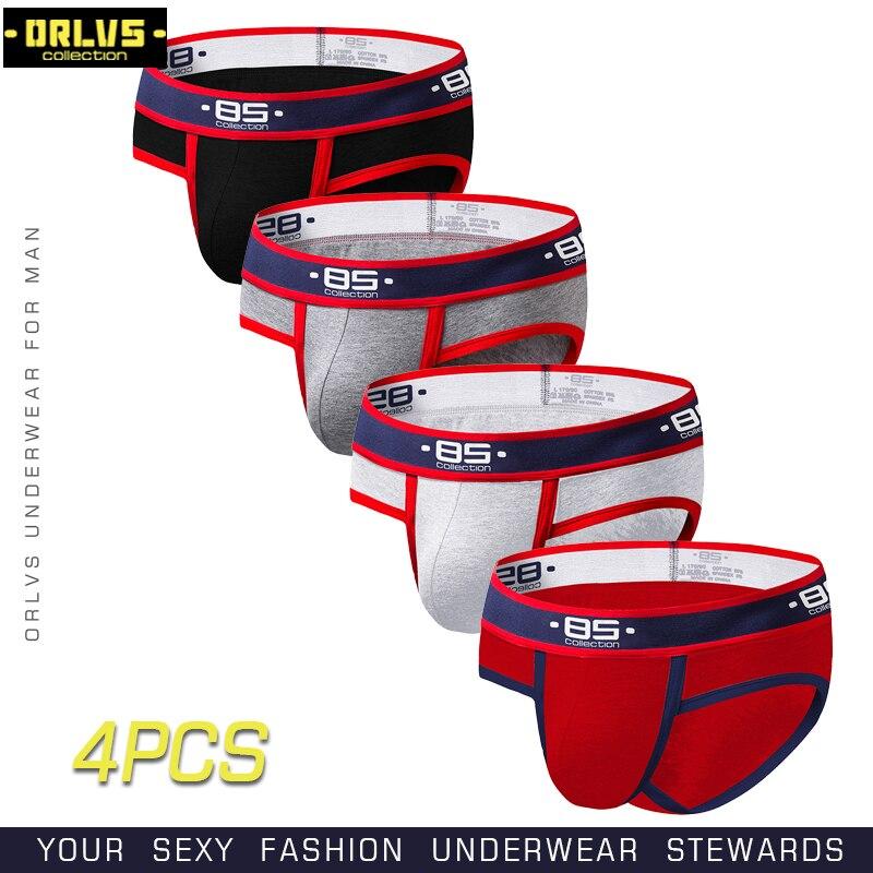 BS 4 pzas/lote ropa interior Gay ropa interior cómoda de Modal para hombres bragas ropa interior de los hombres pantalones cortos de BreathableMens Sexy Braguita