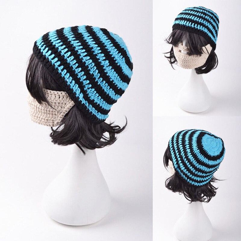 Estilo de la moda de punto invierno cálido sombrero de barba para ...