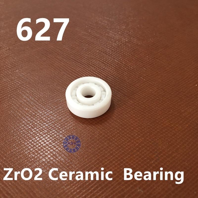 1 PC 627 Full Ceramic ZrO2 7x22x7 7mm/22mm/7mm ZrO2 Ceramic Ball Bearing ceramic wheel hub bearing zro2 15267 15 26 7mm 15267 full zro2 ceramic bearing