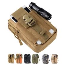 Тактический Чехол Molle охотничьи сумки поясная сумка Военная упаковка наружные сумки чехол для телефона карман для Iphone 7