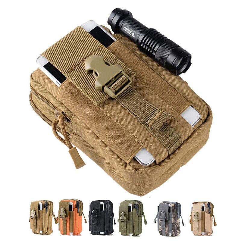 Funda táctica molle bolsas de caza cinturón bolsa de cintura paquete militar bolsas para exterior teléfono funda bolsillo para Iphone 7